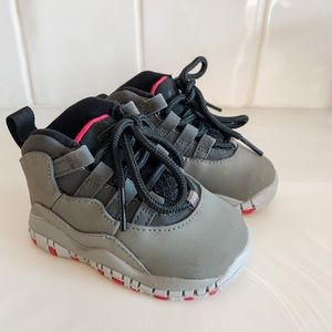 Gray and Pink Air Jordan's Toddler Girl Shoe